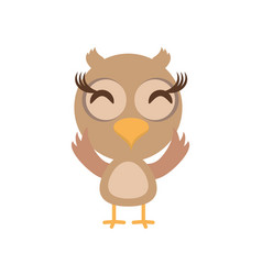 kawaii owl animal toy vector image