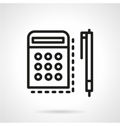 Mathematics icon line style vector image vector image