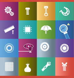 set of icon of spare parts vector image vector image