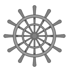 Wheel of ship icon black monochrome style vector image vector image