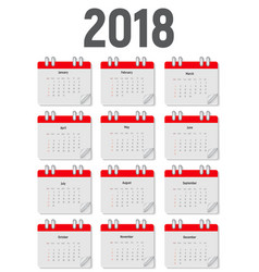 2018 new year calendar vector image