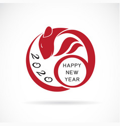 2020 happy new year greeting card that is a rat vector image