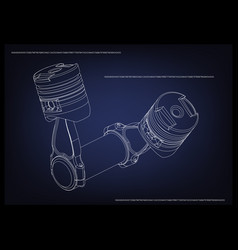 3d model of piston vector image