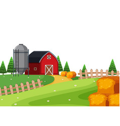 a rural country landscape vector image