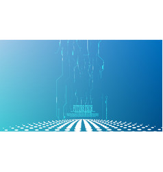 Abstract cyber circuit tower background vector