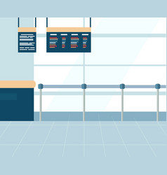 airport ticket office barrier fence image vector image