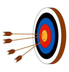 archery target on white background vector image