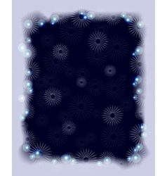 Background with snowflakes and frost for Christmas vector image