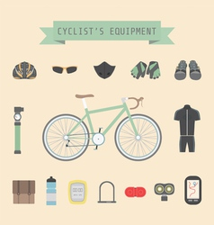 bikeequipmenticon vector image
