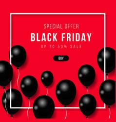 black friday big sale black air balloon creative vector image