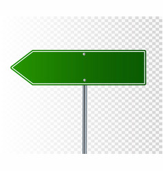 blank green road sign vector image