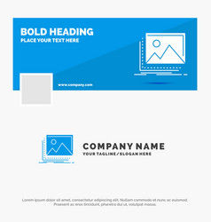 Blue business logo template for gallery image vector
