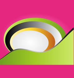 brochure design template tri-fold geometric vector image