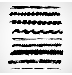 Brush lines set vector image