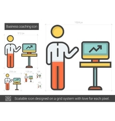Business coaching line icon vector