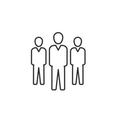 businessman group line icon simple modern flat vector image
