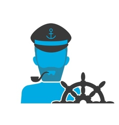 Captain blue icon vector image