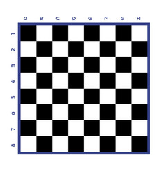 chess table classical black and white vector image