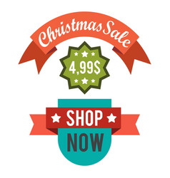 christmas sale price off new year decorated tree vector image