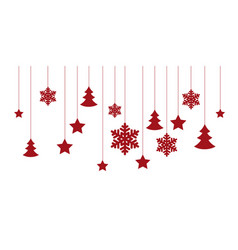 christmas white background vector image