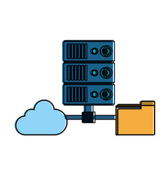 cloud and servers technologies vector image