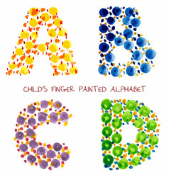 colorful funny paint alphabet vector image