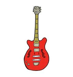 Comic cartoon electric guitar vector