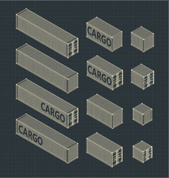 Containers set vector