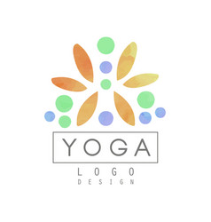 Creative logo template for yoga class or vector