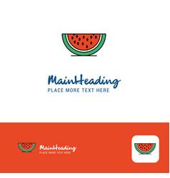 creative water melon logo design flat color logo vector image