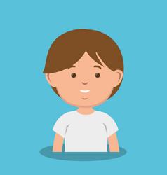 cute little boy icon vector image