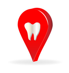 dentist tooth business location icon vector image