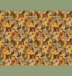 Different people crowd seamless pattern vector