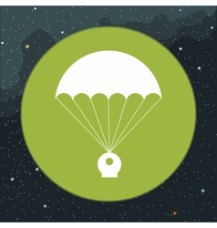 Digital with space capsule and parachute vector image