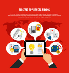 electric appliances buying online vector image