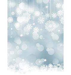 Elegant christmas silver snowflakes EPS 8 vector image vector image