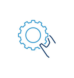 gear wheel in hand settings concept vector image
