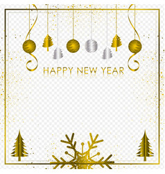 gold and silver background with snowflake and vector image