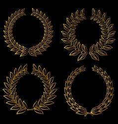 golden laurels set vector image