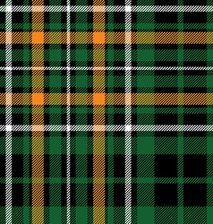 green tartan celtic fc seamless pattern fabric vector image