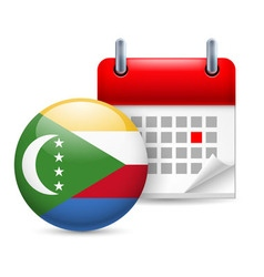 Icon of national day in comoros vector