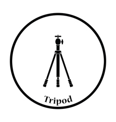 Icon of photo tripod vector