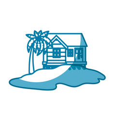 island house draw vector image