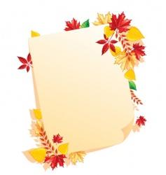 leaf blank vector image