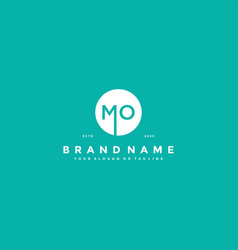 Letter mo logo design vector