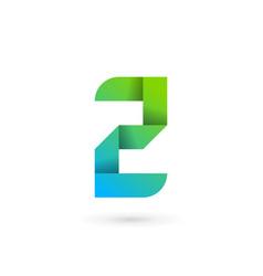 letter z ribbon logo icon design template elements vector image