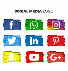 Logo sosial media vector
