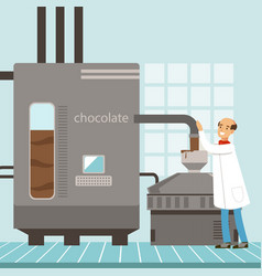 machine for the production of chocolate vector image