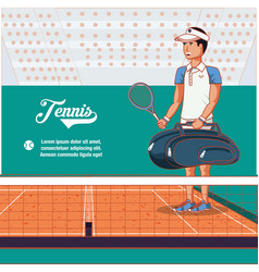 male player tennis character vector image