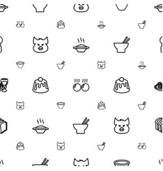 Meal icons pattern seamless white background vector